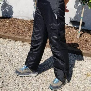 Women's Black Snowboarding Snow Pants Badd Co. XL